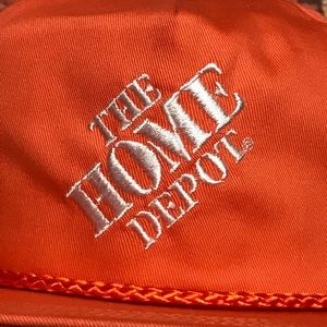 aa44319c794d7 Accessories - Vtg The Home Depot Orange Snapback Rope Hat